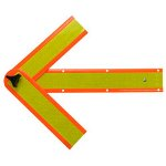 Deflecto Reflective Safety Arrow, Magnetic Holders
