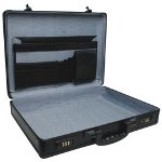 "RoadPro 17.5"" Black Aluminum Briefcase"