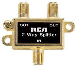 RCA 2 Way Signal Splitters, 5 to 900MHz