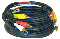 RCA 6' Stereo Audio, Video Cable with RCA Plugs