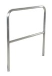 "Aluminum Pipe Safety Railing, 48""L"