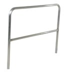 "Aluminum Pipe Safety Railing, 60""L"