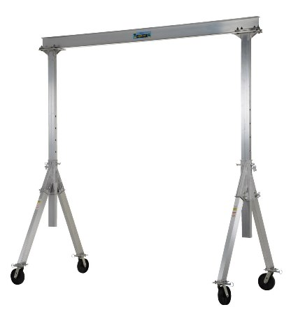Adjustable Aluminum Gantry Crane, 2k, 12'L x 12'H