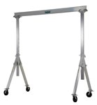 Adjustable Aluminum Gantry Crane, 2k, 10'L x 10'H