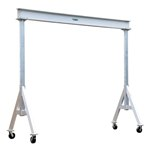 Adjustable Aluminum Gantry Crane, 6k, 12'L x 8'H
