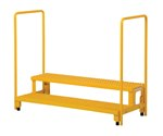 Adjustable Step Stand with Handrail, 50 x 22
