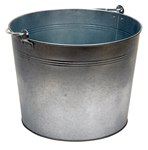 Galvanized Steel Bucket, 5 Gallon