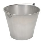 Stainless Steel Bucket, 3-1/4 Gallon