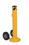 "Movable Safety Bollard, with Wheels, 42"" x 5.5"""