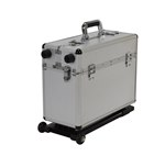 Aluminum Storage Case with Trolley, 8 x 16 x 166