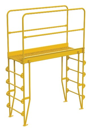 "Cross Over Ladder, Vertical, 5 Step, 56"" Span"