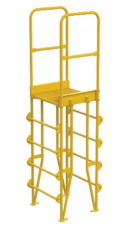 "Cross Over Ladder, Vertical, 5 Step, 8"" Span"