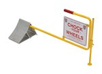 Aluminum Wheel Chock with Horizontal Handle & Sign