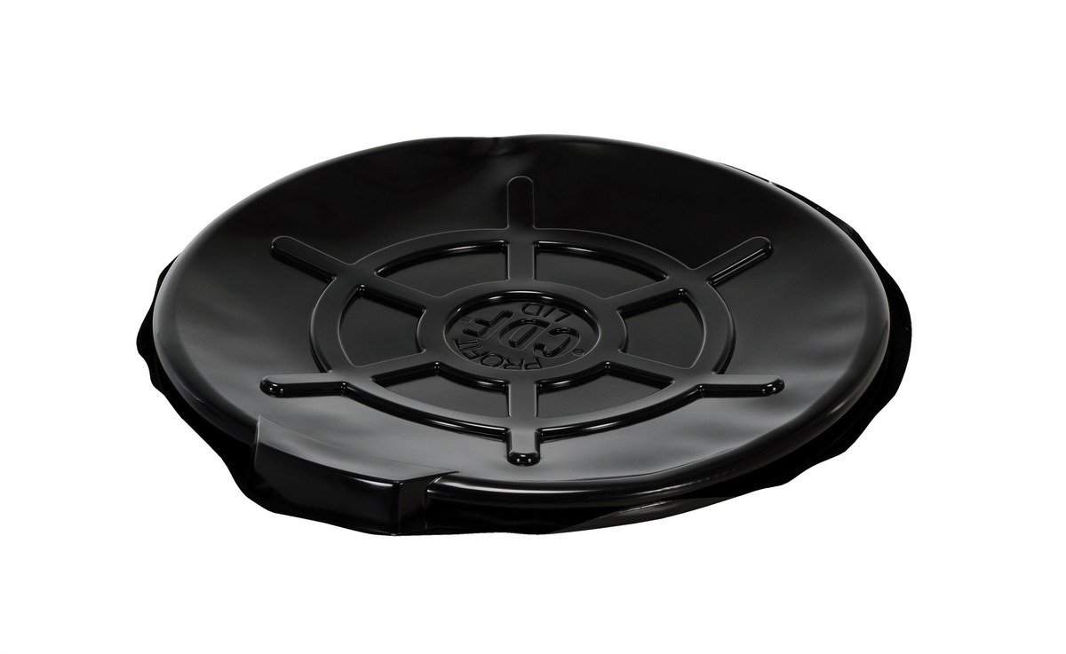 Drum Cover, Black Plastic, for Open Heads, 5pk
