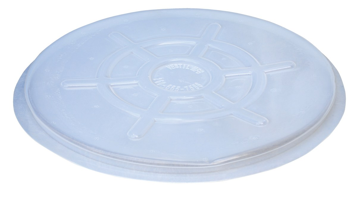 Clear Plastic Drum Covers, 5pk