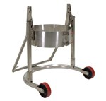Stainless Steel Manual Drum Carrier, Rotator