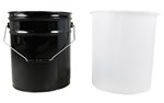 5 Gallon Pail Liner, Rigid, High Density