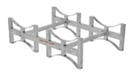 Stackable 2 Drum Rack System, Galvanized