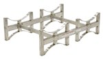 Stackable 2 Drum Rack System, Stainless Steel