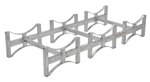 Stackable 3 Drum Rack System, Galvanized