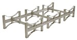 Stackable 3 Drum Rack System, Stainless Steel