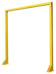 Overhead Door Warning Barrier, 8' x 8'