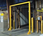 Overhead Door Warning Barrier, 9' x 10'