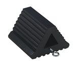 "Extruded Rubber Wheel Chock, 8.5"" x 8.5"" x 6"""