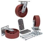"6"" x 2"" Ductile Steel Caster Kit"