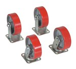 "6"" x 2"" Poly-On-Steel 4Pk Caster Kit"