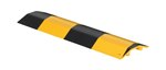 "Extruded Aluminum Hose & Cable Crossover, Yellow & Black, 24"" x 7"""