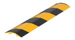 "Extruded Aluminum Hose & Cable Crossover, Yellow & Black, 36"" x 7"""