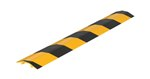"Extruded Aluminum Hose & Cable Crossover, Yellow & Black, 48"" x 7"""