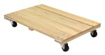Hardwood Dolly, Solid Deck, 24 x 36, 1.2K