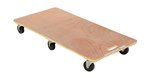 Hardwood Dolly, Solid Deck, Tilting, 24 x 48 x 7