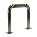 High Profile Machinery & Rack Guard, 36 x 36 x 4, Stainless Steel