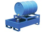 Horizontal Retention Basin, 1 Drum, Blue