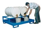 Horizontal Retention Basin, 2 Drums, Blue