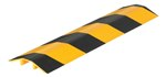 "Extruded Aluminum Hose & Cable Crossover, Yellow & Black, 36"" x 9"""