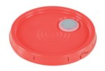 Pail Lid, Spout Top, Tear Tab, 3.5 to 6 Gallon, Red