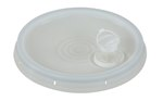 Pail Lid, Spout Top, Tear Tab, 3.5 to 6 Gallon, White