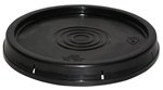 Pail Lid, Standard, 5 Gallon, Black