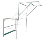 Mezzanine Safety Gate, Double Wide, Stainless Steel