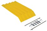 Poly Lid for 1/4 Size H Style Hopper, Yellow