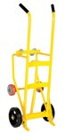 Drum Truck Cradle, Mold-on Rubber Wheels