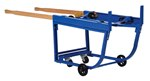 Rotating Drum Cart, Poly-on-Steel Wheels