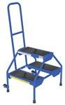 Rolling 2-Step Ladder, Blue