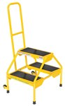 Rolling 2-Step Ladder, Yellow