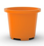Drum Container Base, Orange