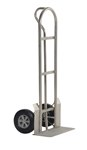 Stainless Steel P Handle Hand Truck, 22 x 19 x 52